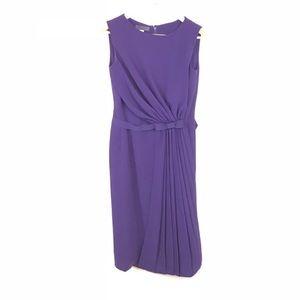 Alberta Ferretti Dress Draped Pleated Dress